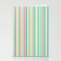 Candy Stripe Pastels Stationery Cards