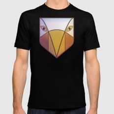 Bird Tribal Mask Mens Fitted Tee Black SMALL