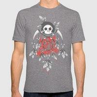 Angel de la Muerte - RED Mens Fitted Tee Tri-Grey SMALL