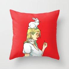 Fragile Girl Throw Pillow