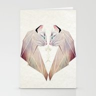 Stationery Cards featuring Cat Lovers by Manoou