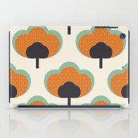 orange flowers iPad Case