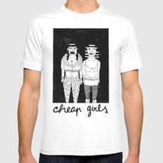 CHEAP GIRLS Mens Fitted Tee White SMALL