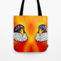 Confederate and Union Eagles Tote Bag
