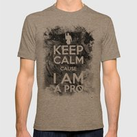 KEEP CALM CAUSE I AM A P… Mens Fitted Tee Tri-Coffee SMALL