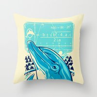 Aquatic problem Throw Pillow