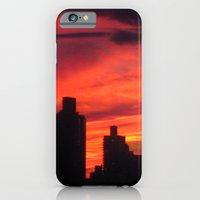 iPhone & iPod Case featuring City Sunset by Kamiledesigns
