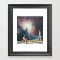Viewing Steps Framed Art Print