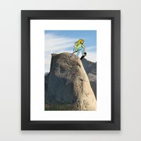 Half Dome Drop In Framed Art Print