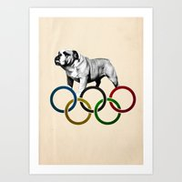 British Bulldog - Olympi… Art Print