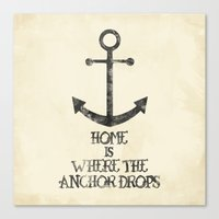 Where The Anchor Drops Canvas Print
