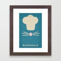 Ratatouille - Minimalist… Framed Art Print