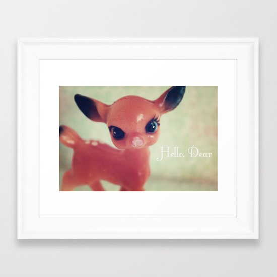 Hello, Dear Framed Art Print