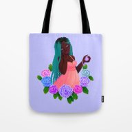 Tote Bag featuring Turquoise Twists by KattyB