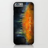 iPhone Cases featuring New York City Skyline Hq V04 by hqphoto