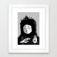Lovely Woman Framed Art Print