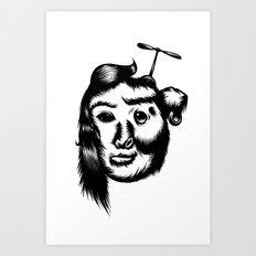 Koala Girl! Art Print