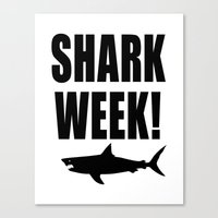 Shark week (on white) Canvas Print