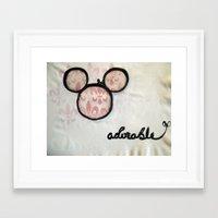 Adorable Mouse Fleur de lis Painting Framed Art Print