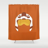 Star Wars Minimalism - Red Five Shower Curtain
