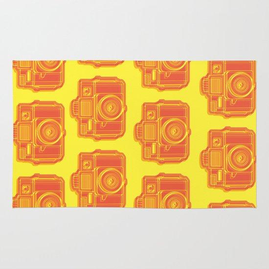 I Still Shoot Film Holga Logo - Yellow & Red Area & Throw Rug