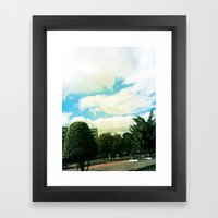 Trees And Chaos Framed Art Print