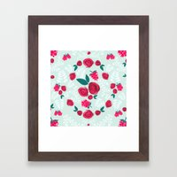 Roses & Berries Framed Art Print