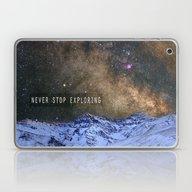 Never Stop Exploring Mou… Laptop & iPad Skin