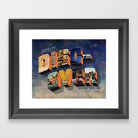 Greetings From Discover Framed Art Print