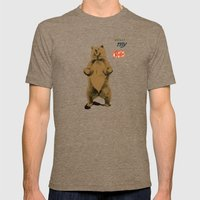 KitKat Bear Mens Fitted Tee Tri-Coffee SMALL