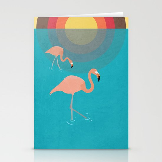 Flamingos Stationery Card