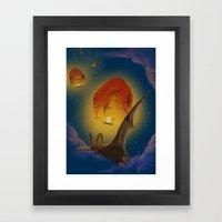 Afraid Of The Light  Framed Art Print