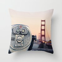 Golden Gate Sunset Throw Pillow