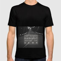 it's always darkest before the dawn. Mens Fitted Tee Black SMALL