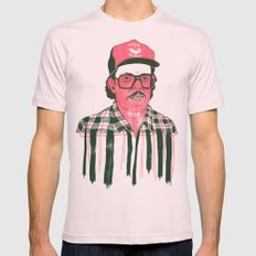 Sausage Man Mens Fitted Tee Light Pink SMALL