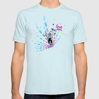 Cosmic Sentinel Mens Fitted Tee Light Blue SMALL