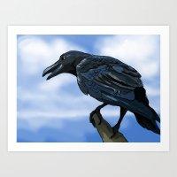 Mr. Crow Art Print