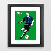 M is for Mustoe Framed Art Print