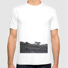 Beach Bum White Mens Fitted Tee SMALL