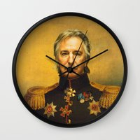 Alan Rickman - replaceface Wall Clock