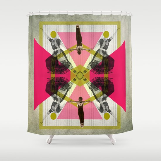 Bollywood geometrical gym Shower Curtain