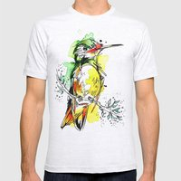 Lime Hummer Mens Fitted Tee Ash Grey SMALL