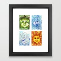 The Four Elements Framed Art Print