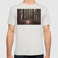 Redwood Forest Mens Fitted Tee Silver SMALL