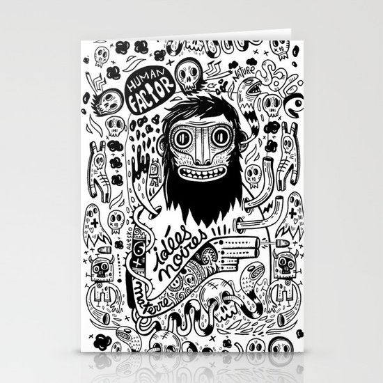 Idées noires Stationery Card
