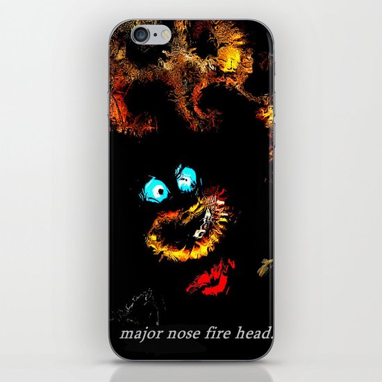 Major nose fire head. iPhone & iPod Skin