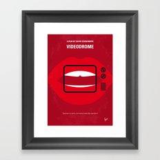 No626 My Videodrome minimal movie poster Framed Art Print