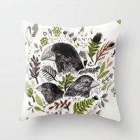 DARWIN FINCHES Throw Pillow
