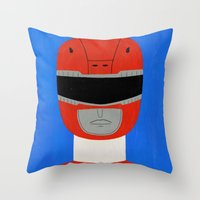 Red Ranger Throw Pillow