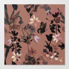 Autumn flowers in the garden Canvas Print